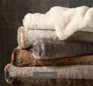 Faux Fur Throws from Restoration Hardware