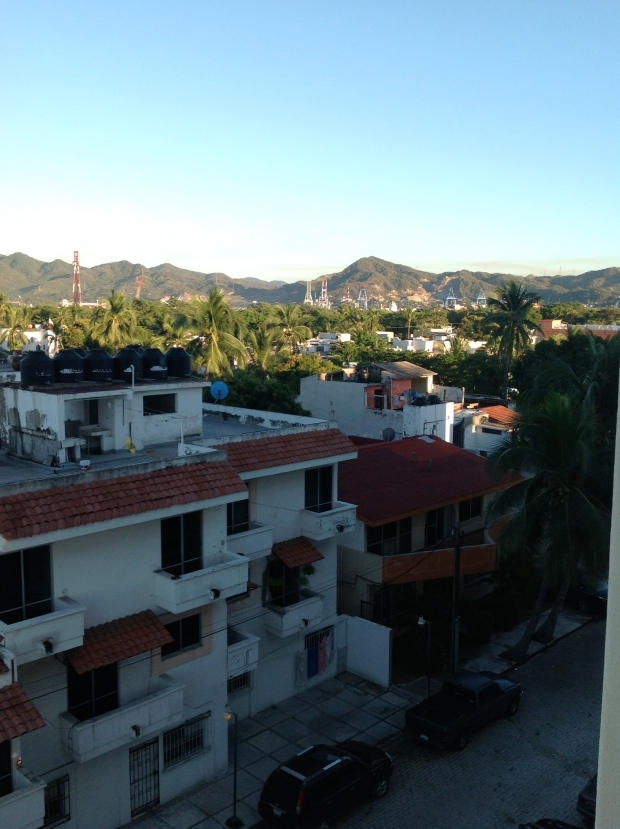 Manzanillo, street view from the condo. Such a cute little town!