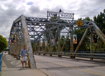 Matthew at the bridge leading into Inglewood