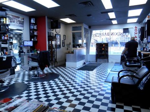 London Barbers Interior