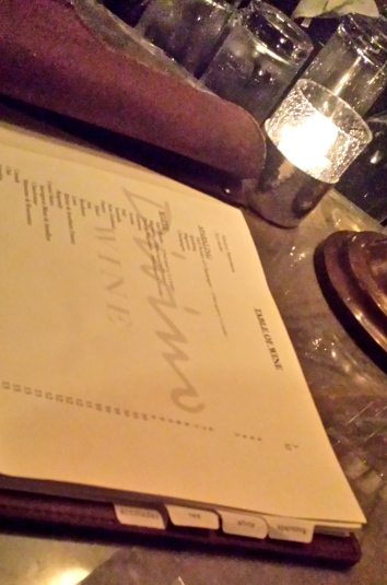 An extensive and impressive wine list at Divino