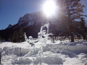 Ice Sculptures in Lake Louise
